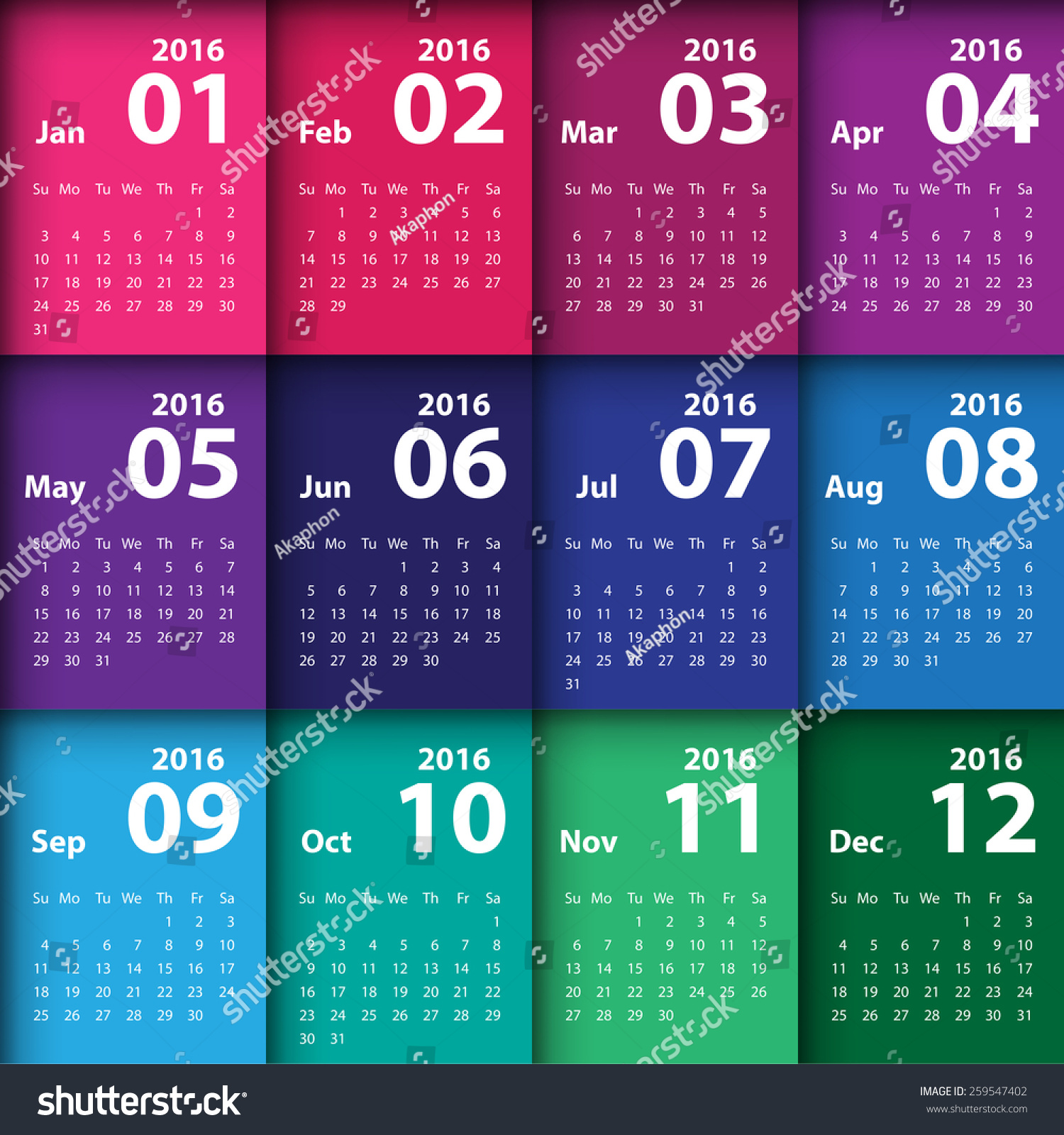 Calendar Design Pictures : Calendar simple design stock vector