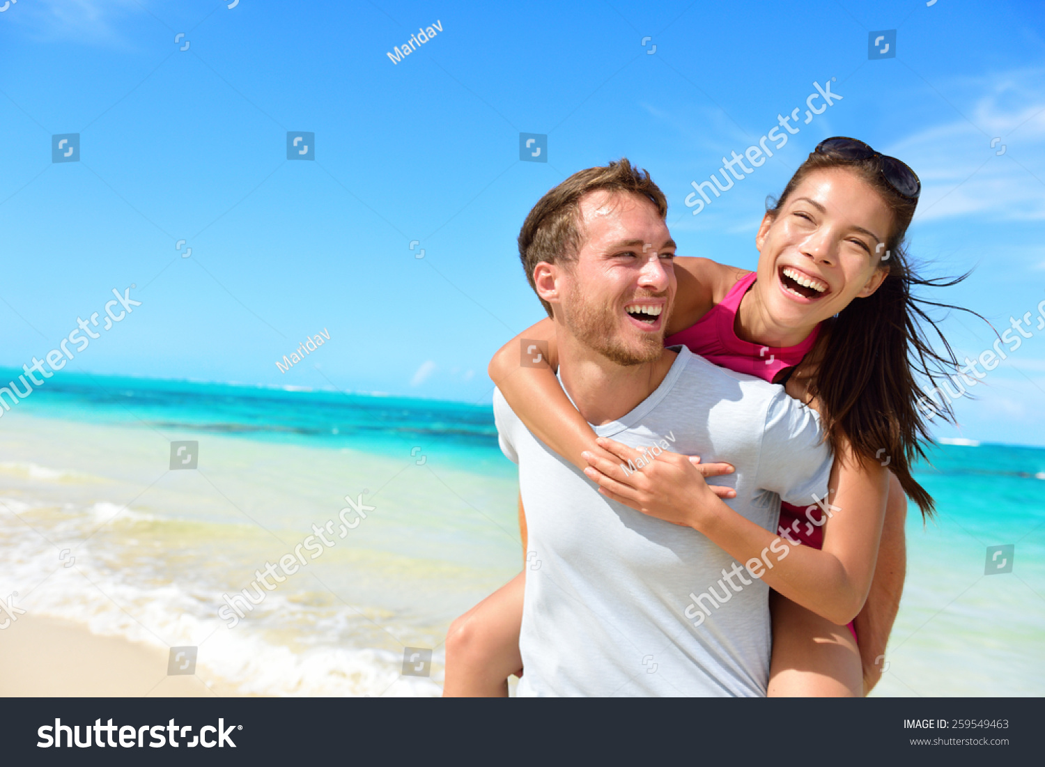 Separate vacations asian and canadian wife greetings 10