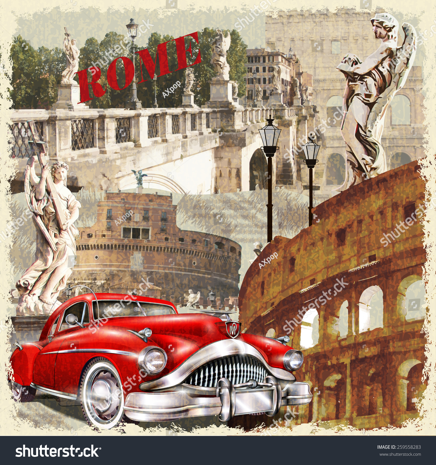 Rome vintage poster