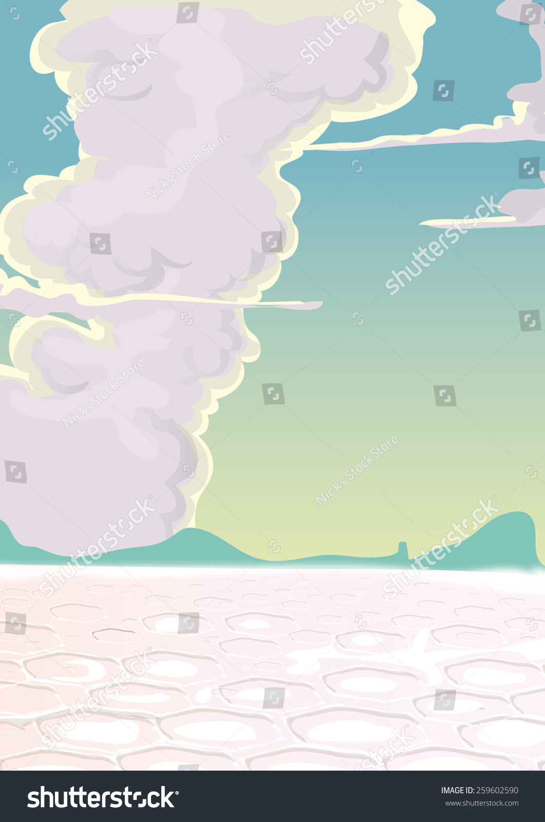 Salt Flat Dry Desertsalt Flat Dry Stock Illustration 259602590
