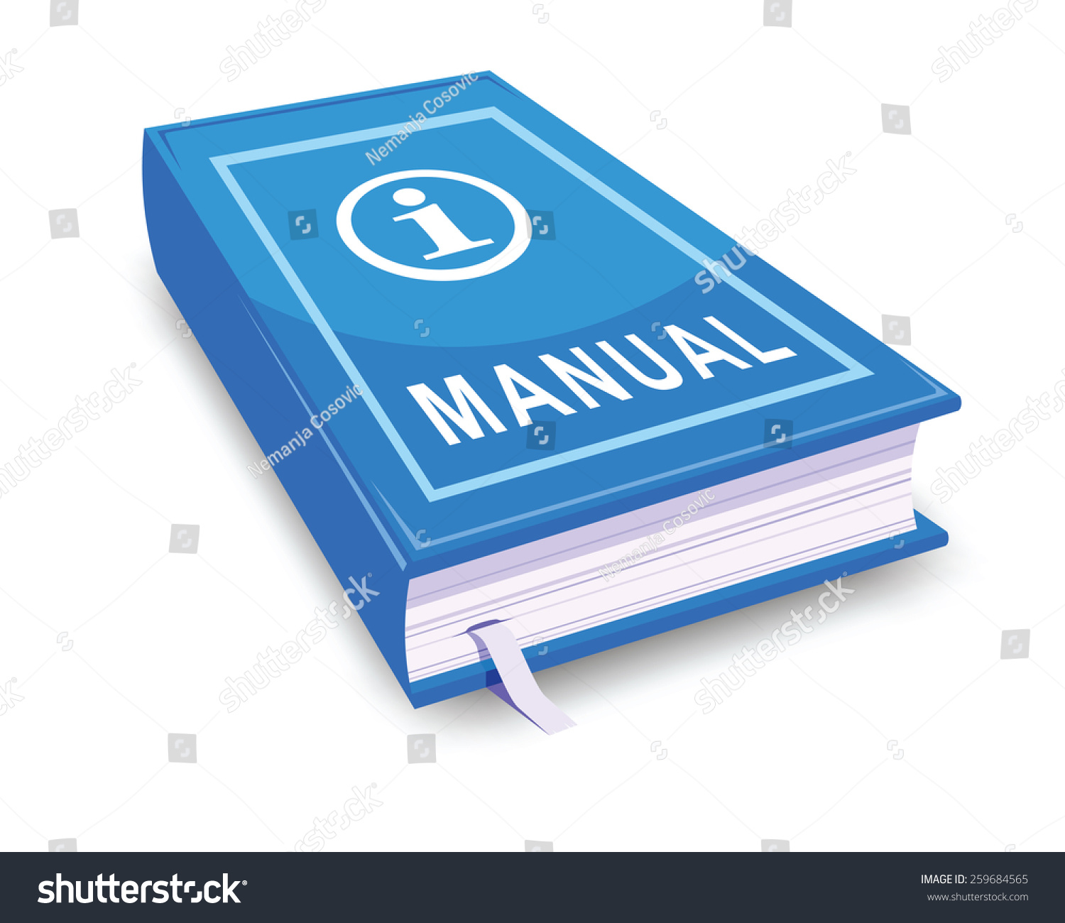 Manual user guide stock vector 259684565 shutterstock for Vector canape user manual