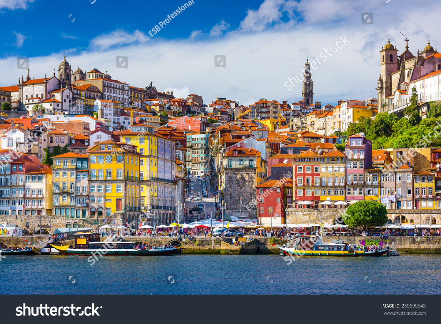 Know your Geography 2 - Page 3 Stock-photo-porto-portugal-old-town-skyline-from-across-the-douro-river-259699643