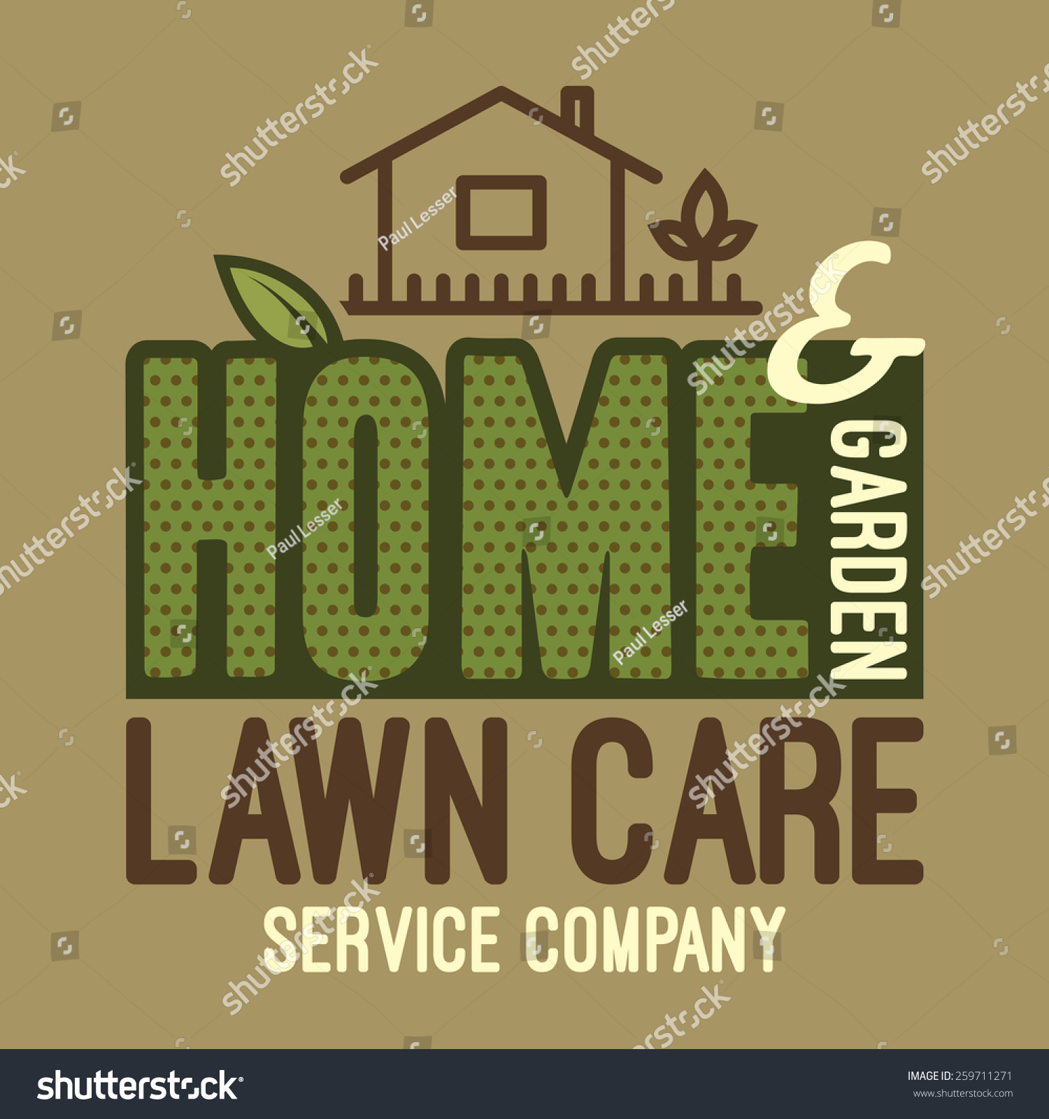 Home and garden lawn care services company label and t for Lawn and garden care services