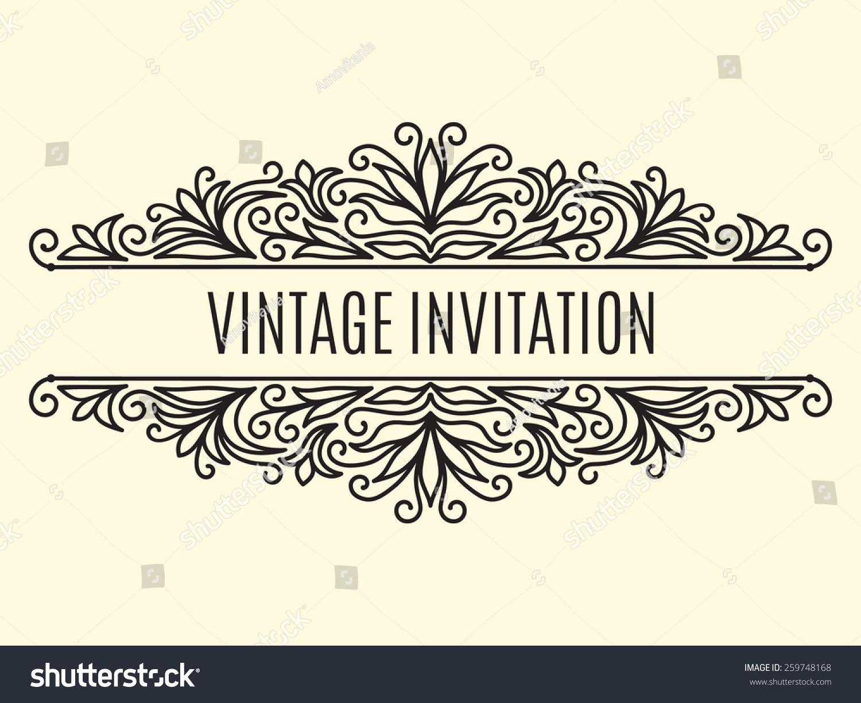 Vector Contour Line Design Vintage Frame Lager-vektor ...