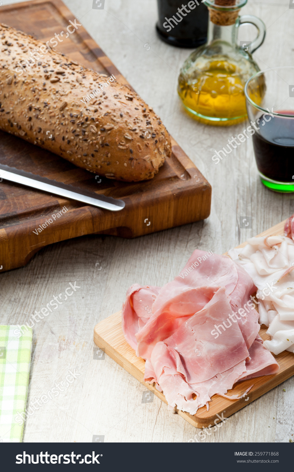 cold cuts with bread #259771868