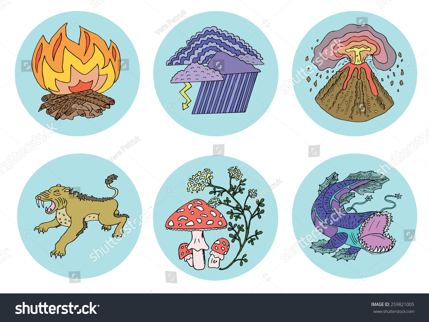 icons forces of nature environmental dangers and risks save to a lightbox