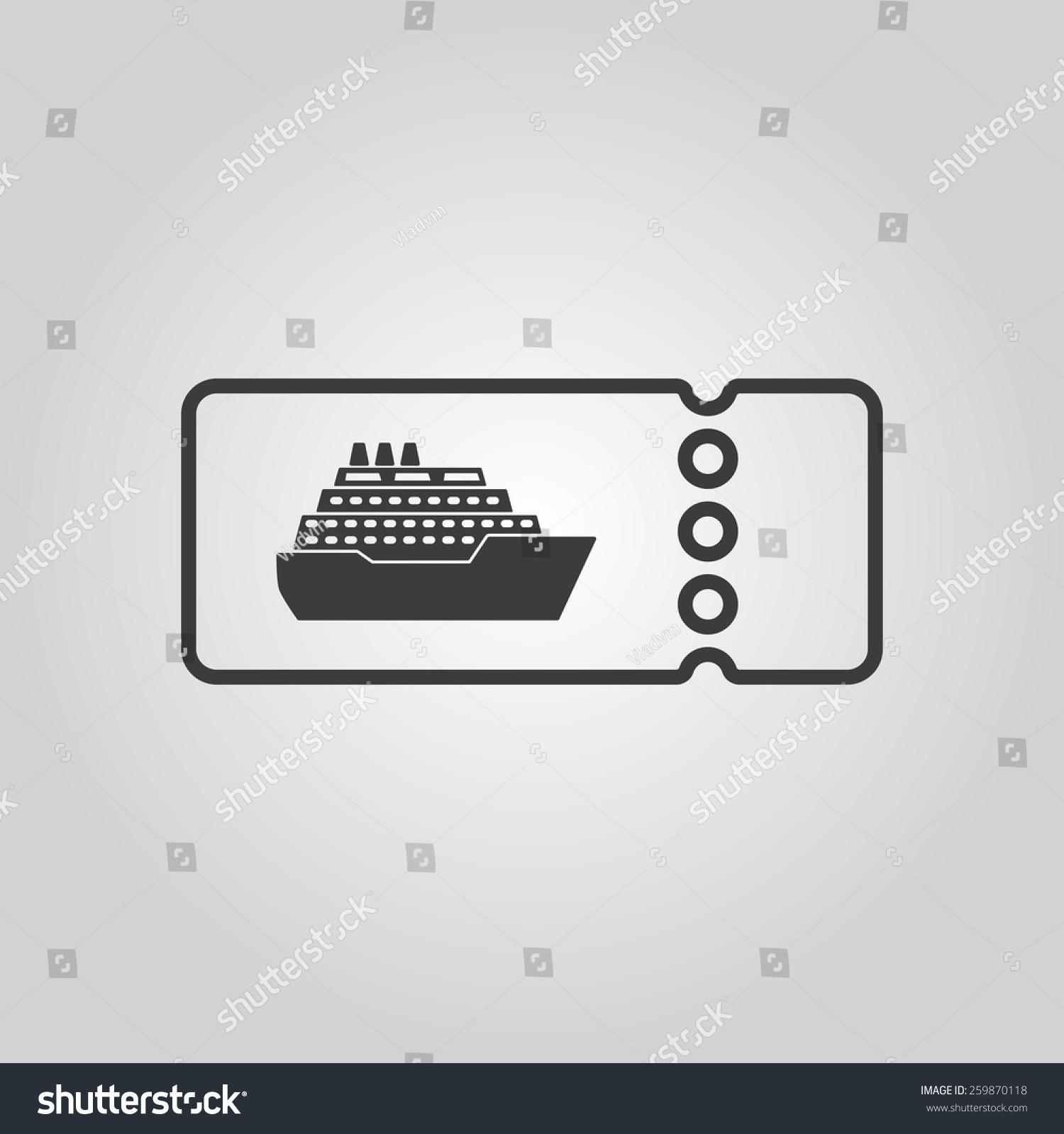 Cruise ship tickets icon travel symbol stock vector 259870118 the cruise ship tickets icon travel symbol flat vector illustration buycottarizona