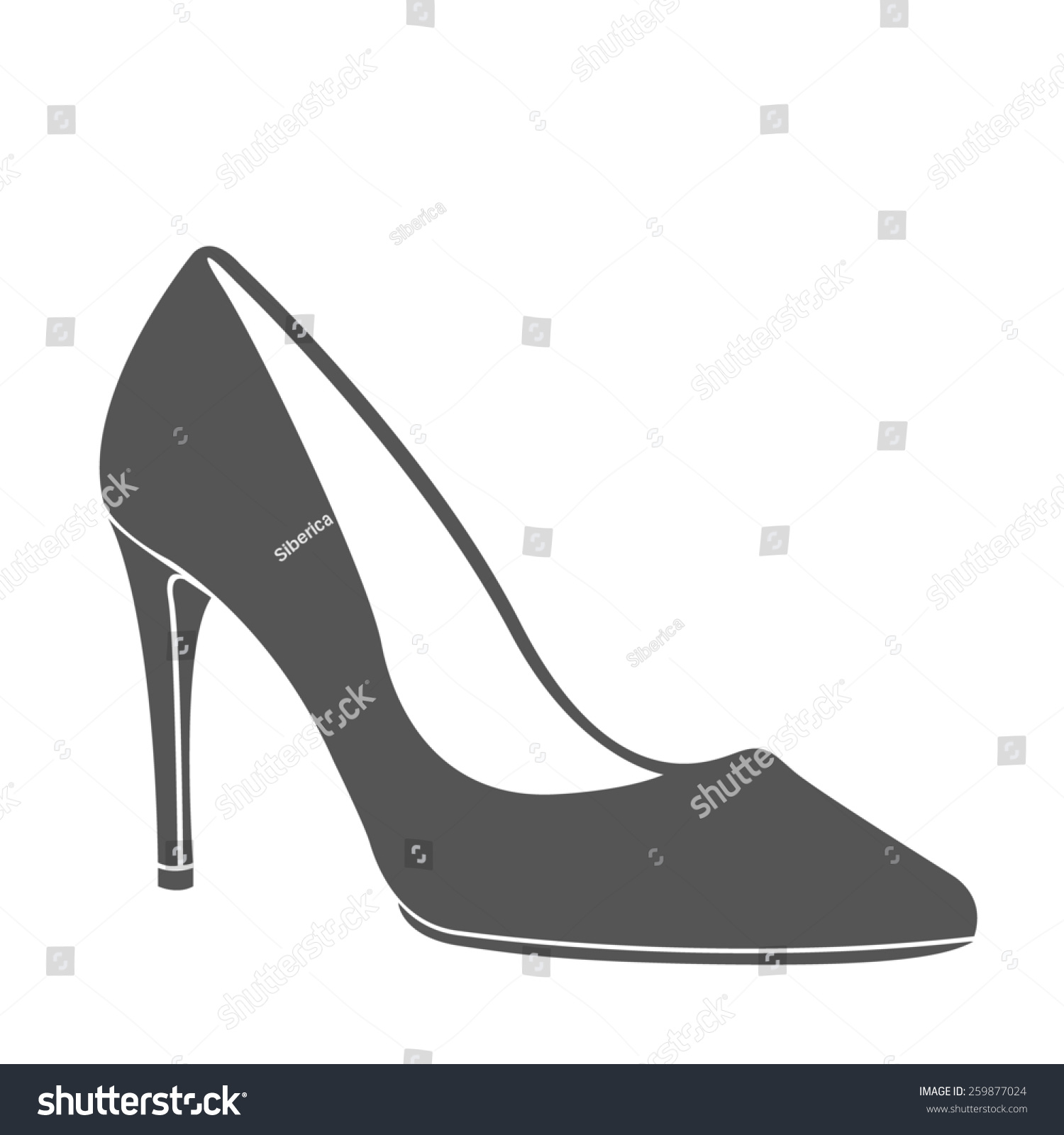 women high heel shoe design template stock illustration 259877024