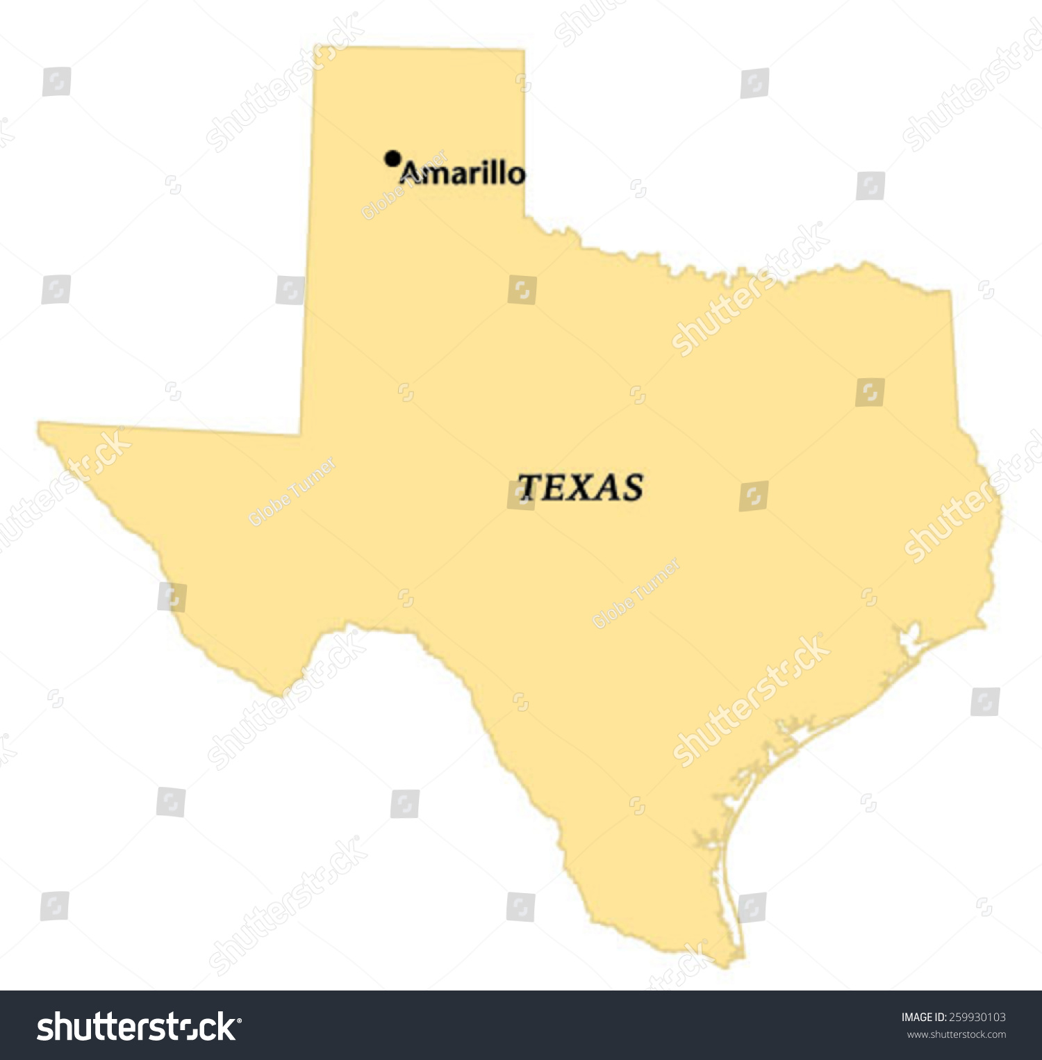 Amarillo Texas Locate Map Stock Vector Shutterstock - Map of amarillo texas
