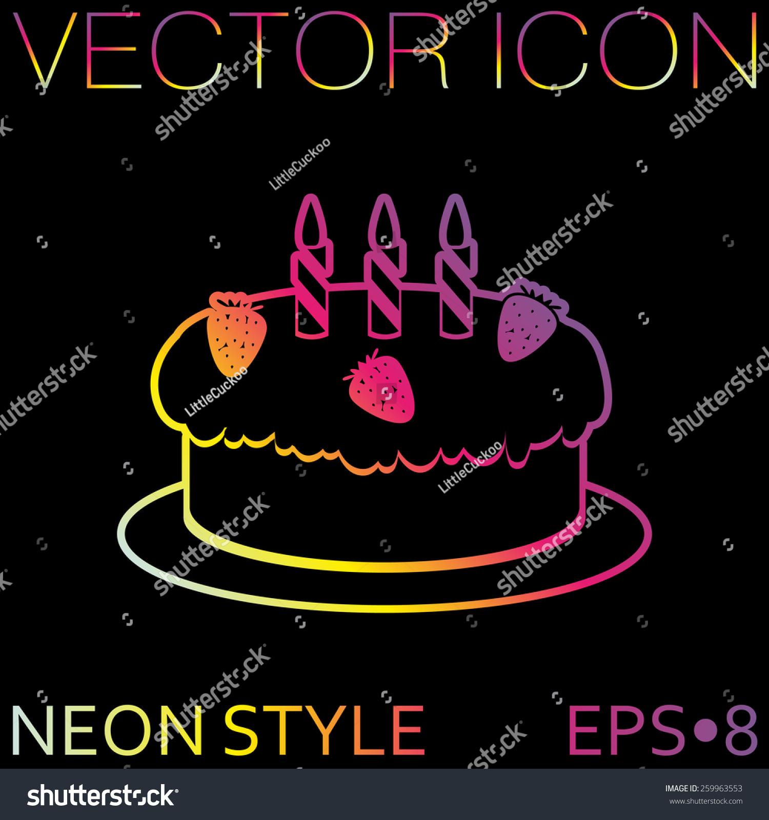 Birthday Cake Icon Symbol Cake Celebrating Stock Vector 259963553