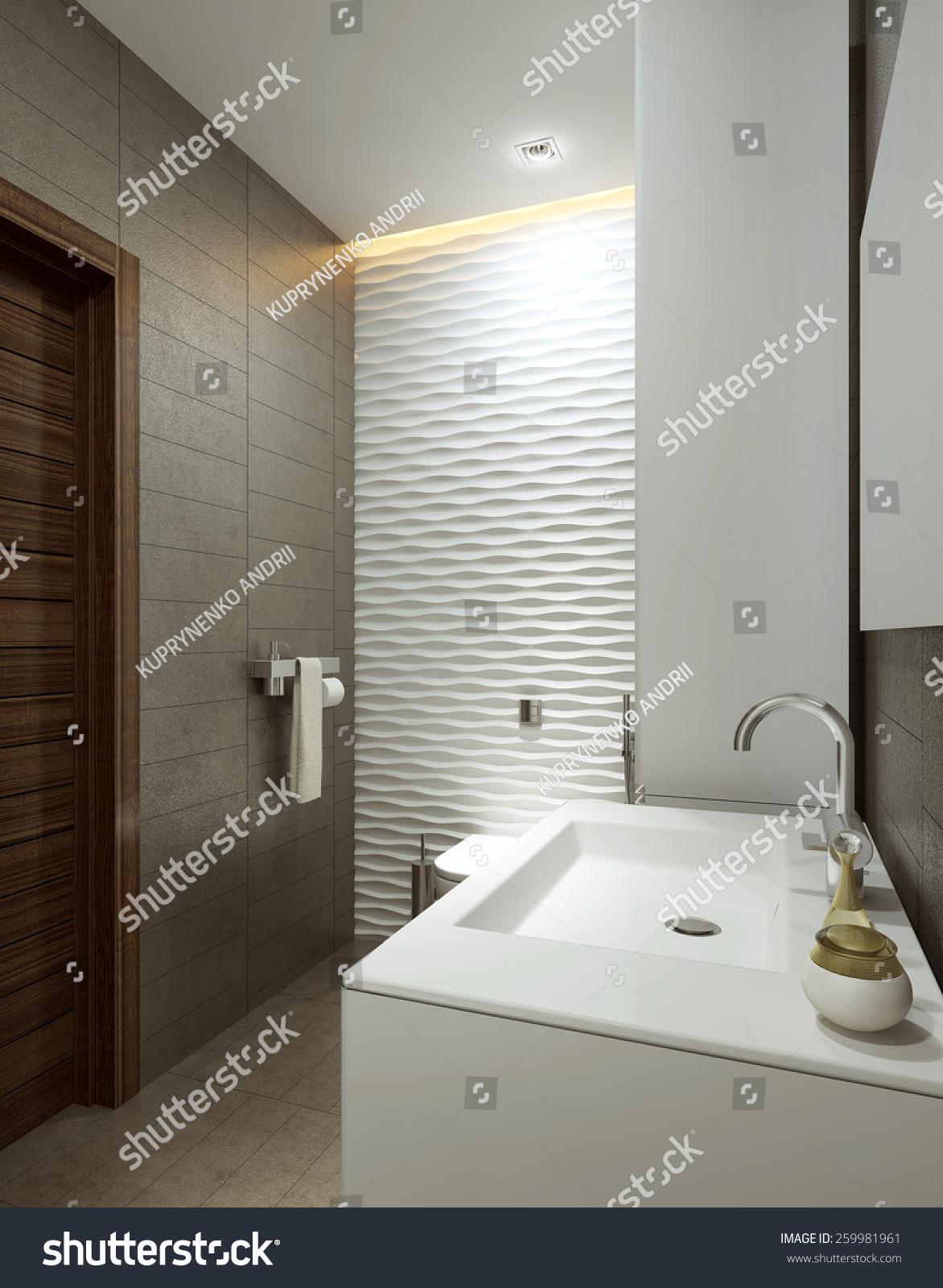 Bathroom modern style, 3d images | EZ Canvas
