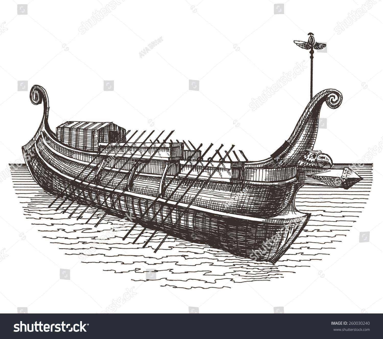 Retro Ship Vector Logo Design Template Boat Or Transport Icon