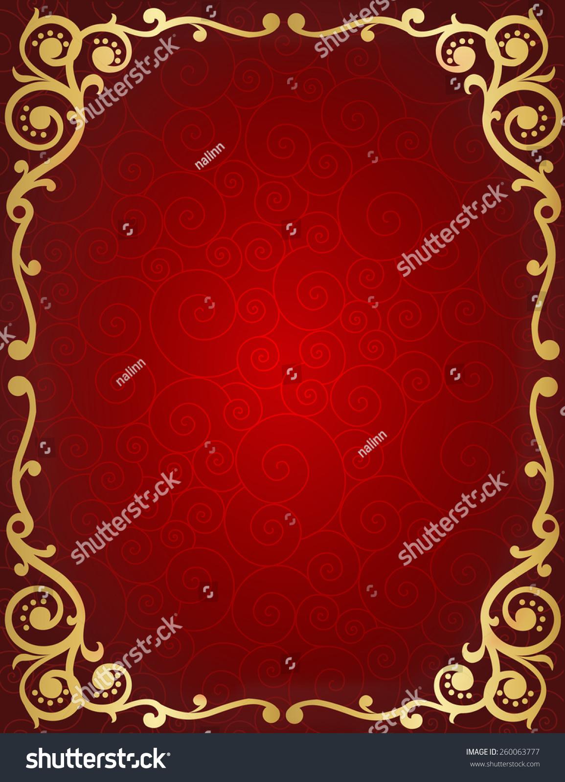 Elegant Wedding Invitation Anniversary Background Frame Stock Vector ...