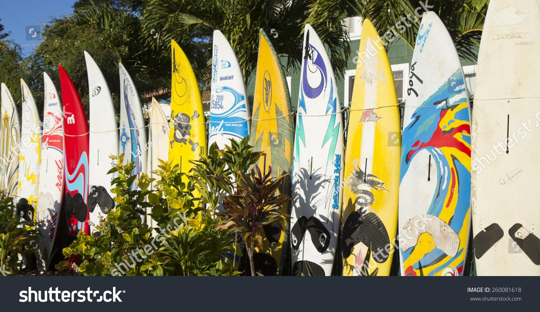Paia Hawaiijanuary 27 2014 Surfboard Fence Stock Photo Edit Now
