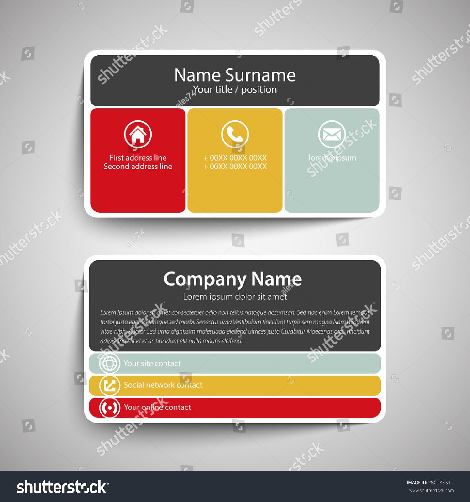Modern simple business card template vector stock vector 260085512 modern simple business card template vector format colourmoves