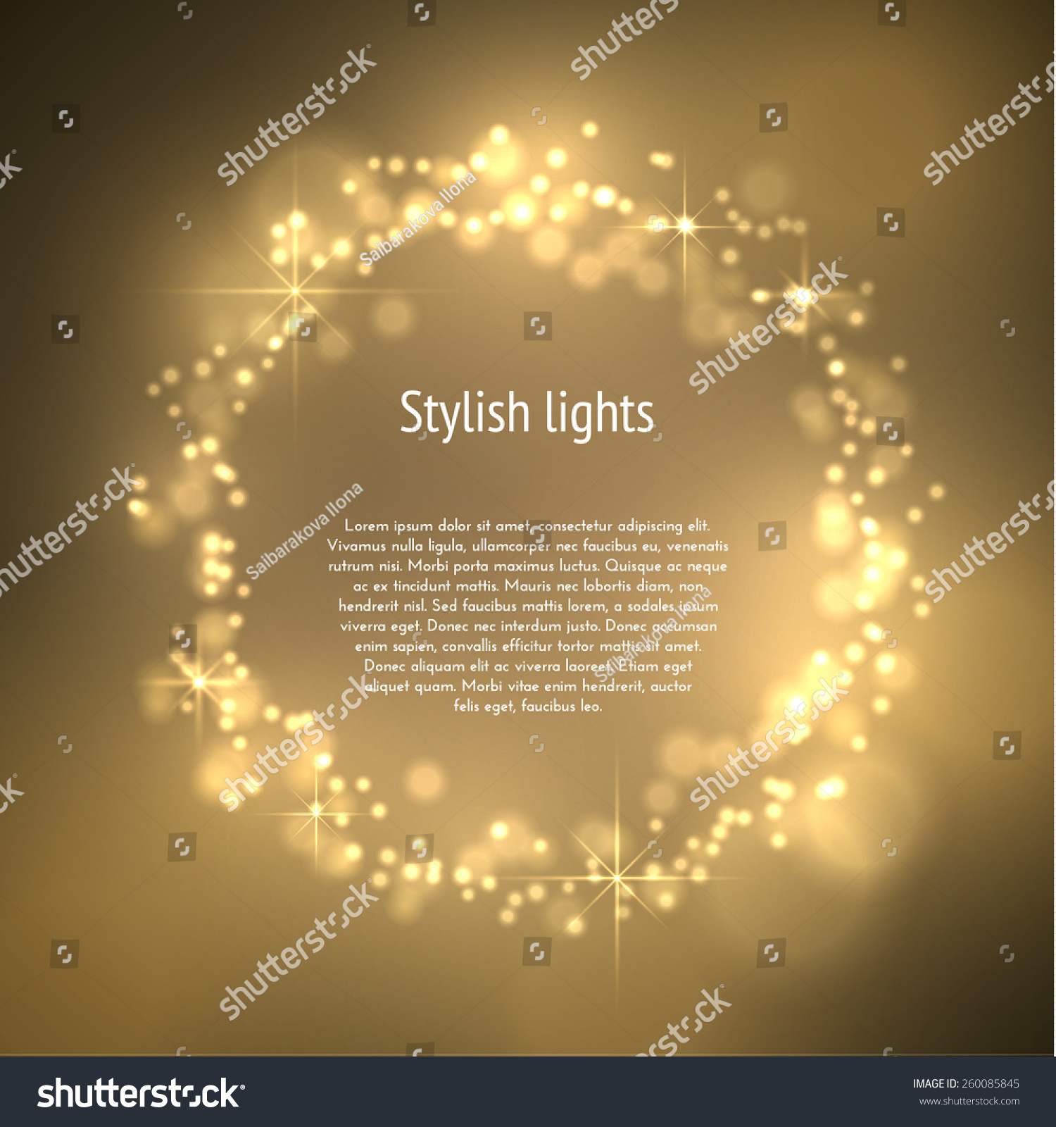 golden dust circle frame magic background vector eps10