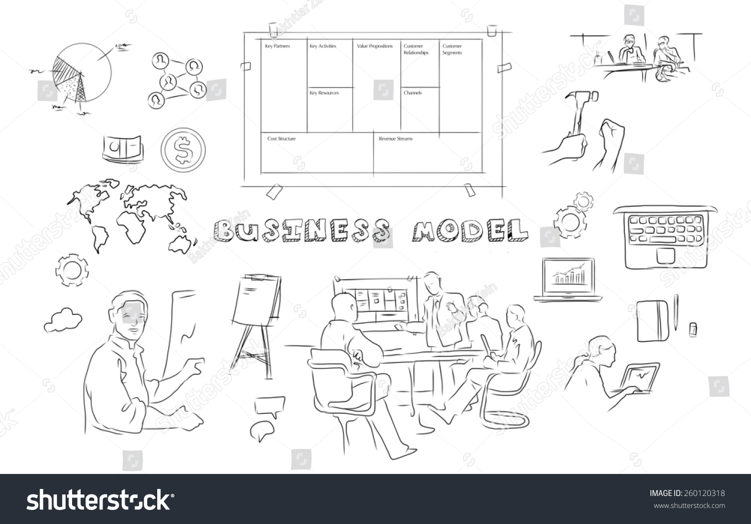 Nye Business Model Generation Stock Illustration 260120318 BD-65