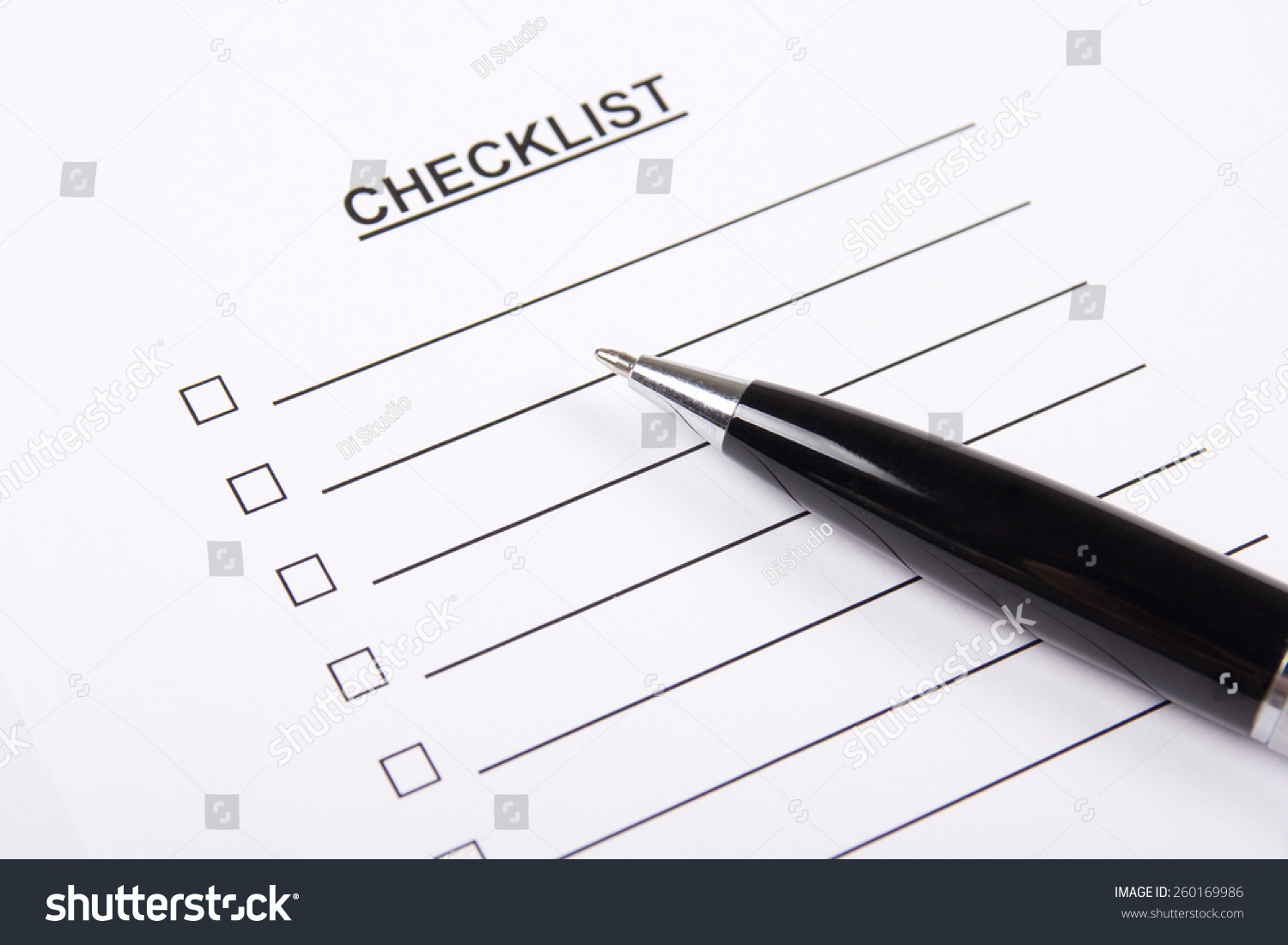 blank to do list and metal pen ez canvas