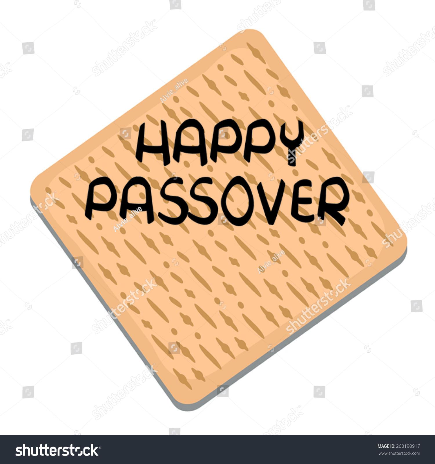 Happy Passover Greeting Card Matzo Bread Stock Vector 260190917