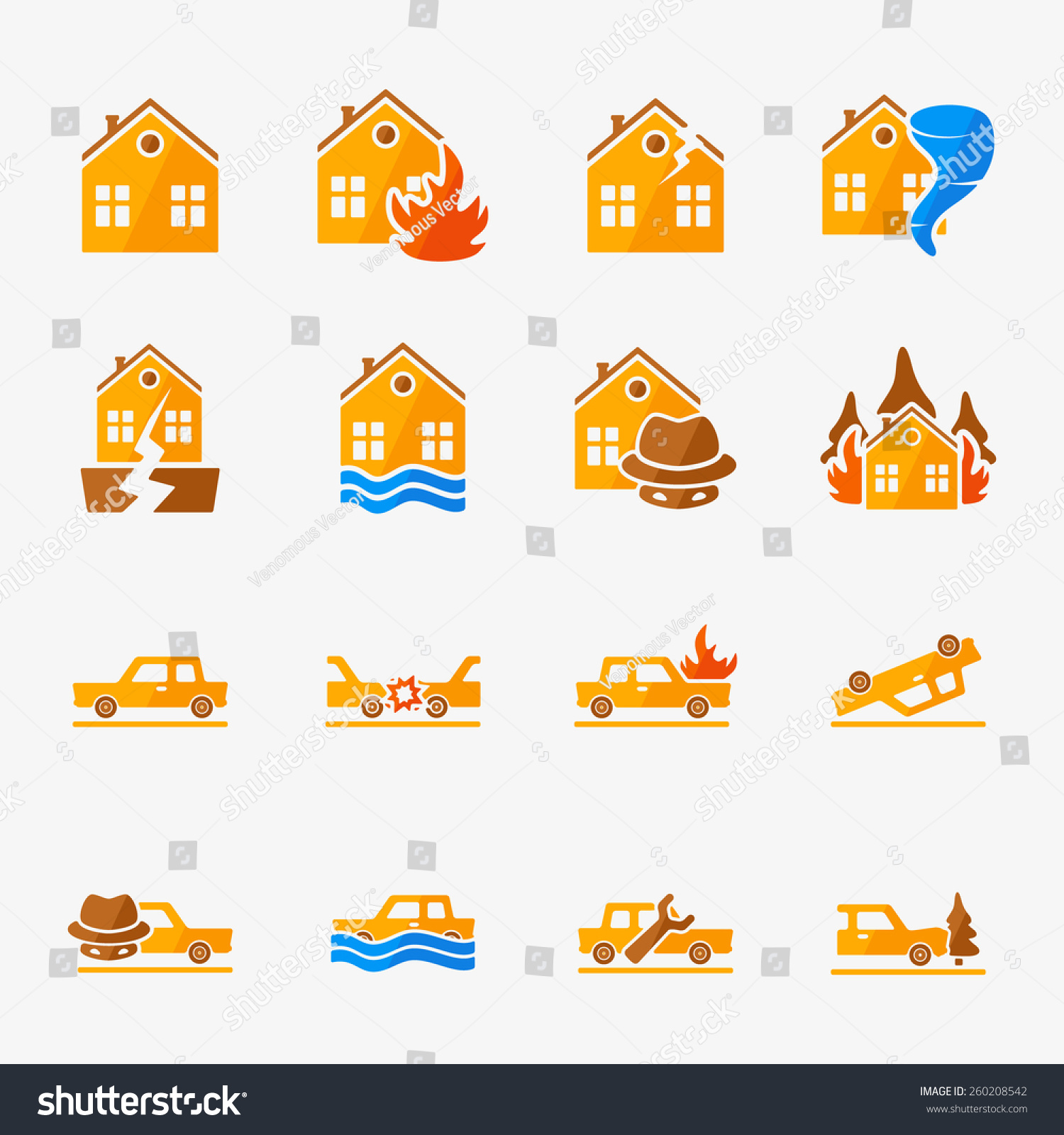 Insurance vector icons set property car stock vector 260208542 insurance vector icons set property and car insurance symbols or logos biocorpaavc Gallery