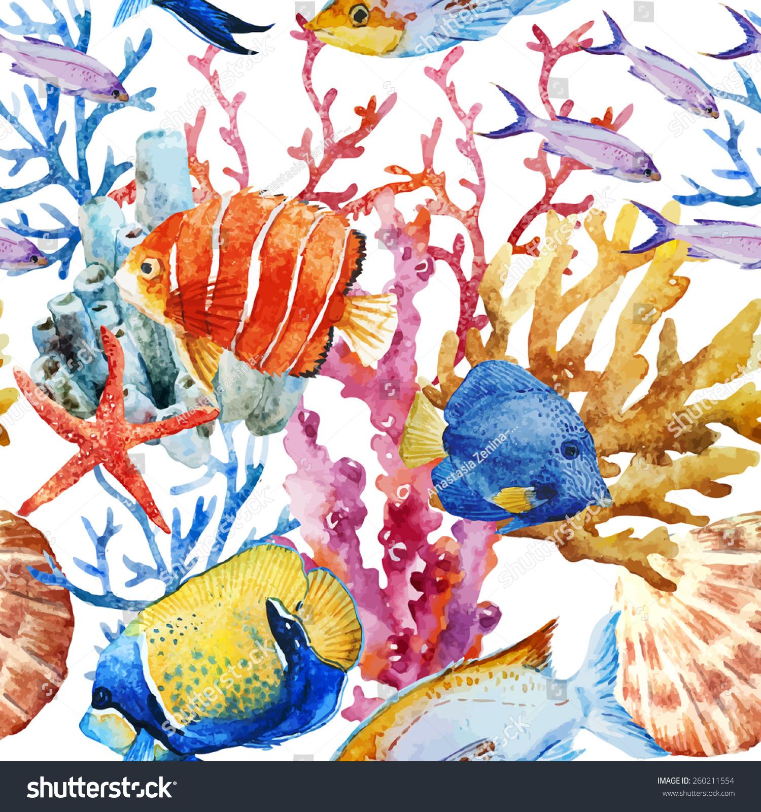 ocean fish wallpaper pattern - photo #3