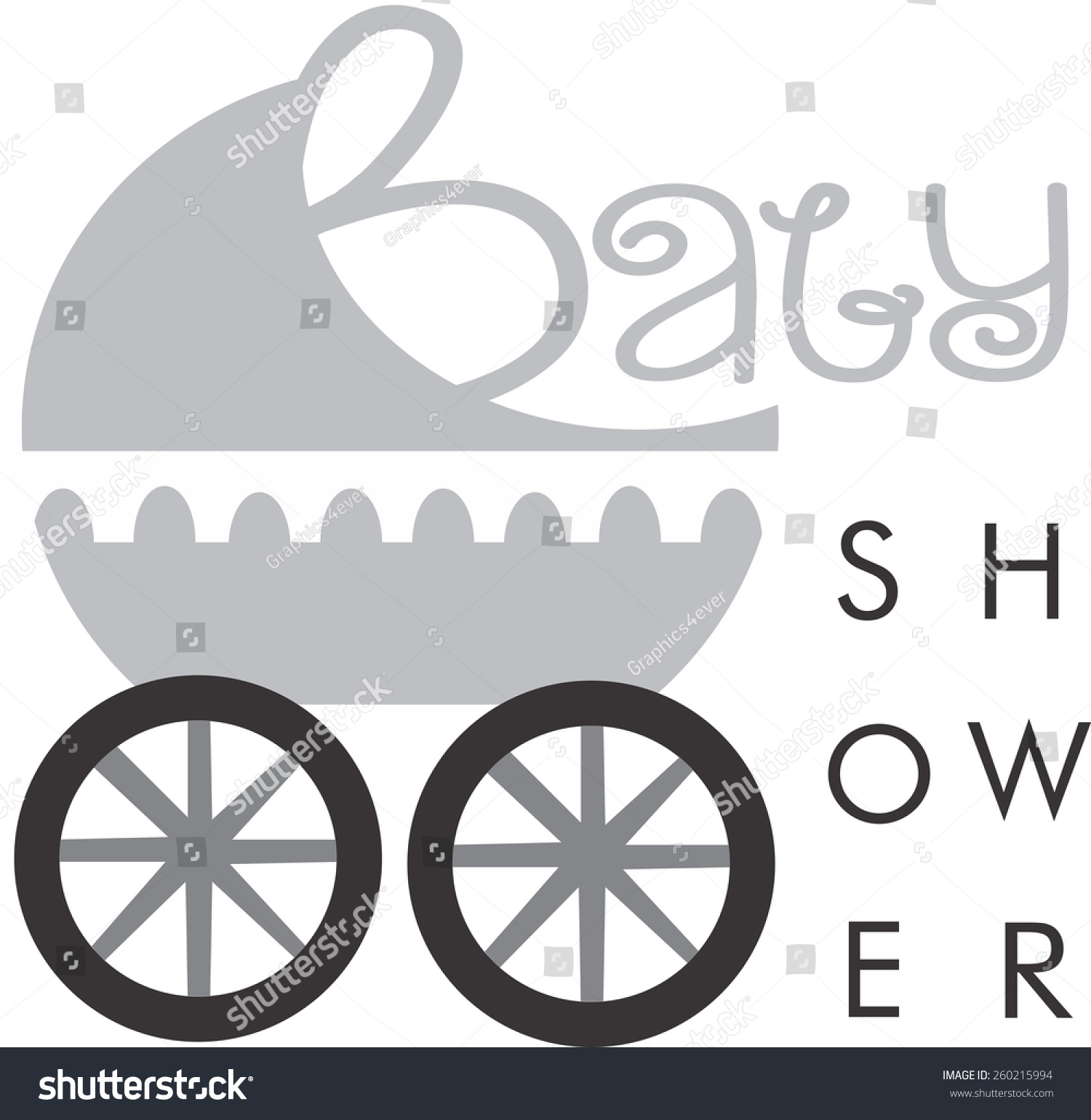 baby shower logo baby depot logo stock vector illustration 260215994