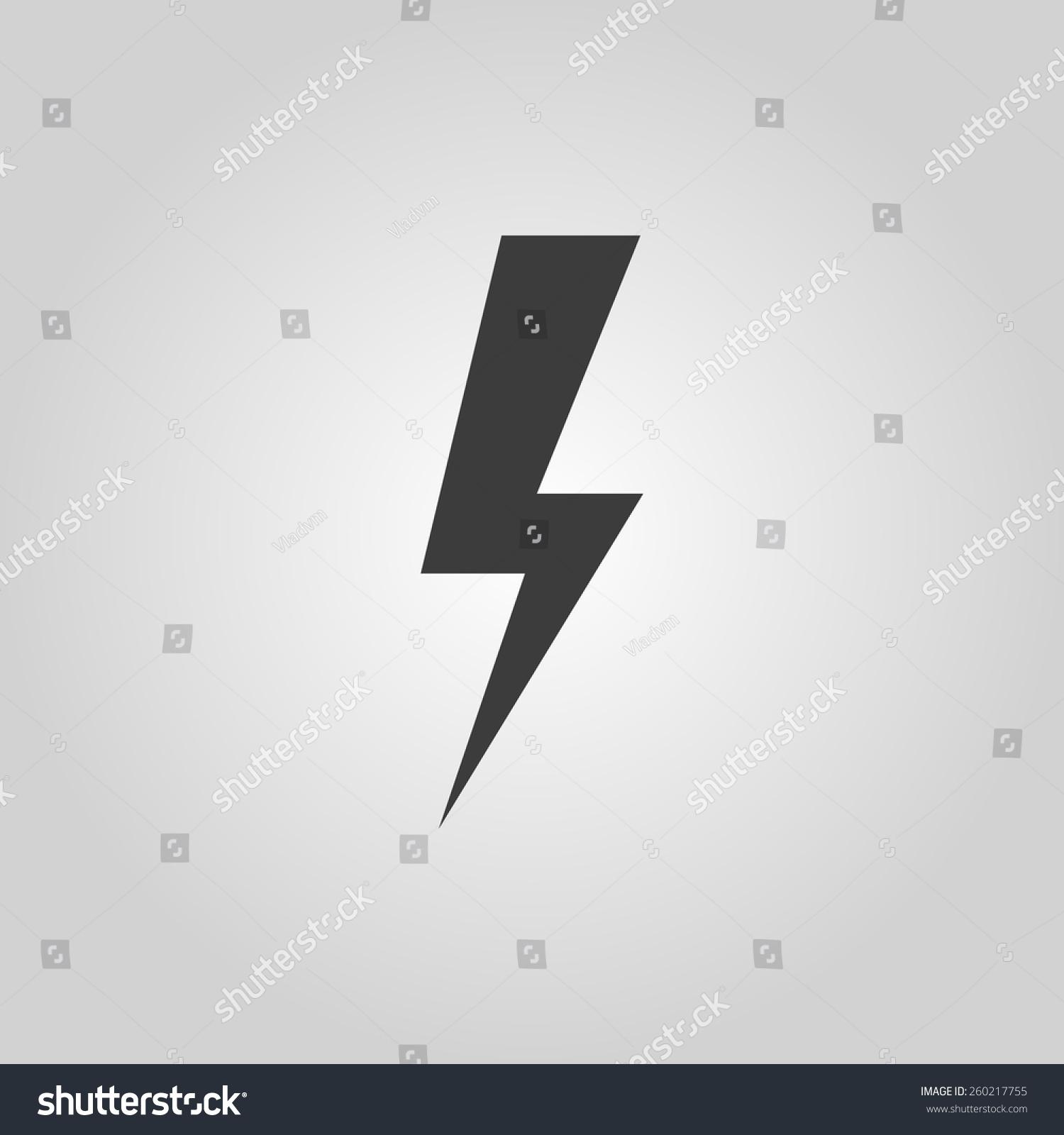 The Lightning Icon Power Symbol Flat Illustration Ez Canvas