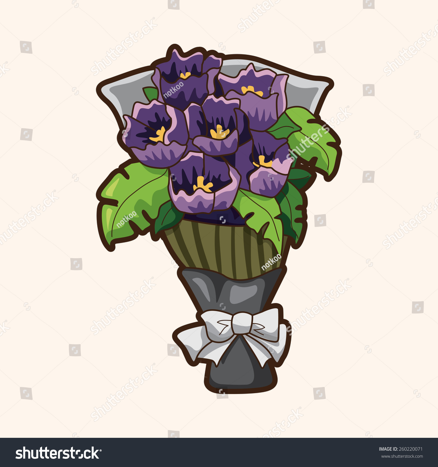 Cartoon Flower Bouquet Stock Illustration 260220071 - Shutterstock