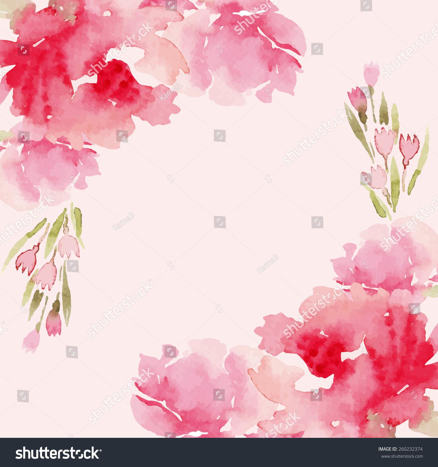 Watercolor flowers peonies handmade greeting cards stock vector handmade greeting cards spring composition kristyandbryce Images