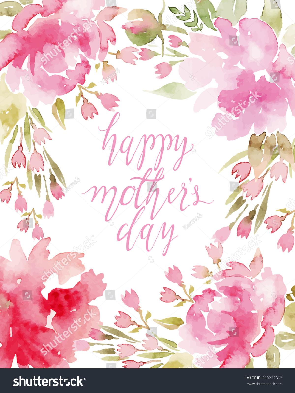 Watercolor flowers peonies handmade greeting cards stock vector watercolor flowers peonies handmade greeting cards spring composition kristyandbryce Images