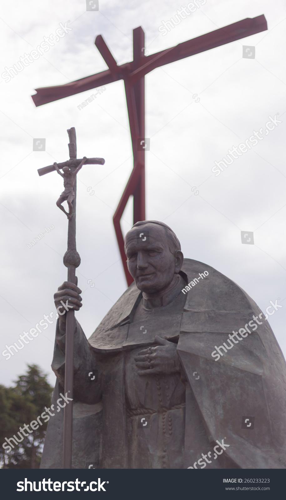 Statue pope john paul ii stock photo 260233223 shutterstock statue of pope john paul ii buycottarizona Choice Image
