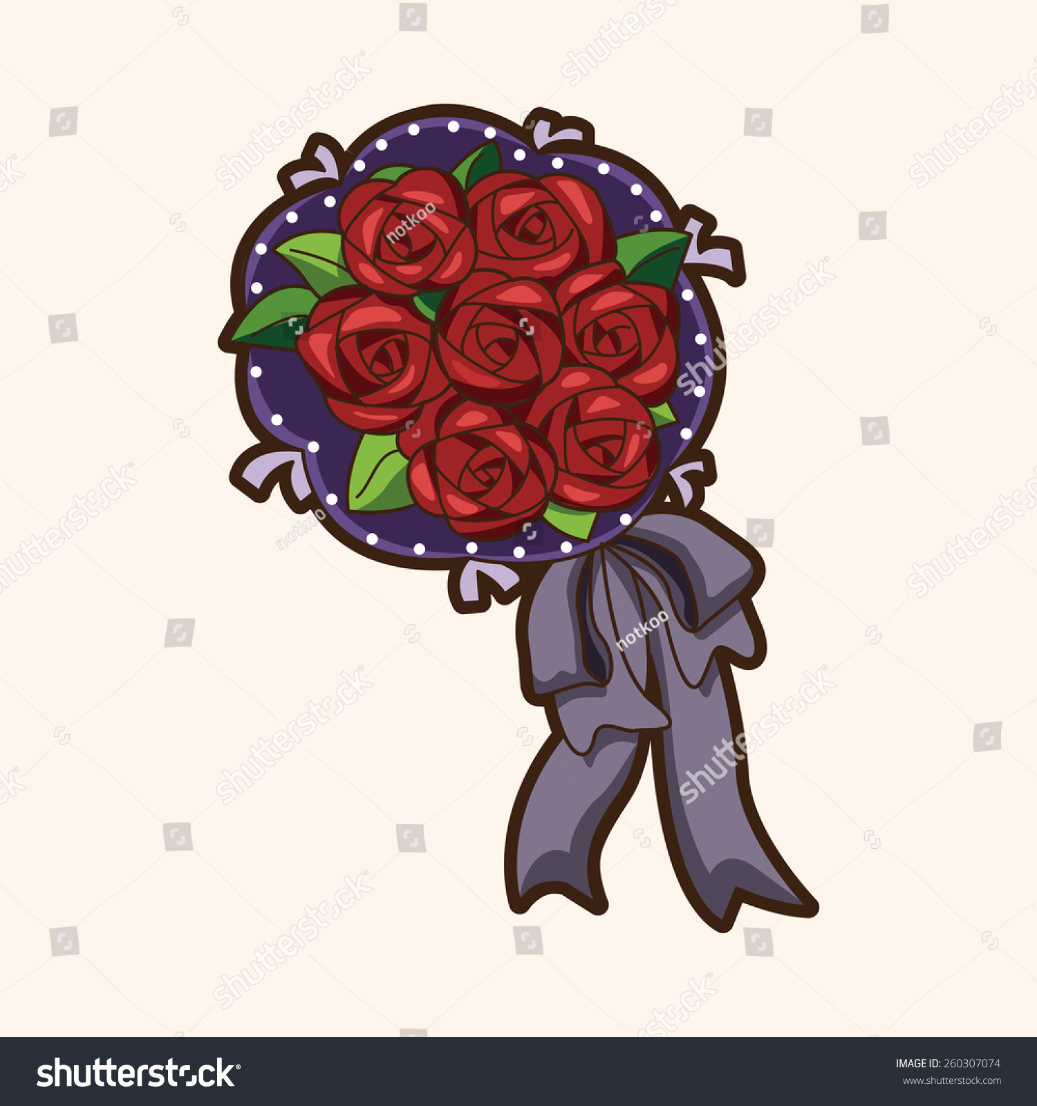 Cartoon Flower Bouquet Stock Illustration 260307074 - Shutterstock