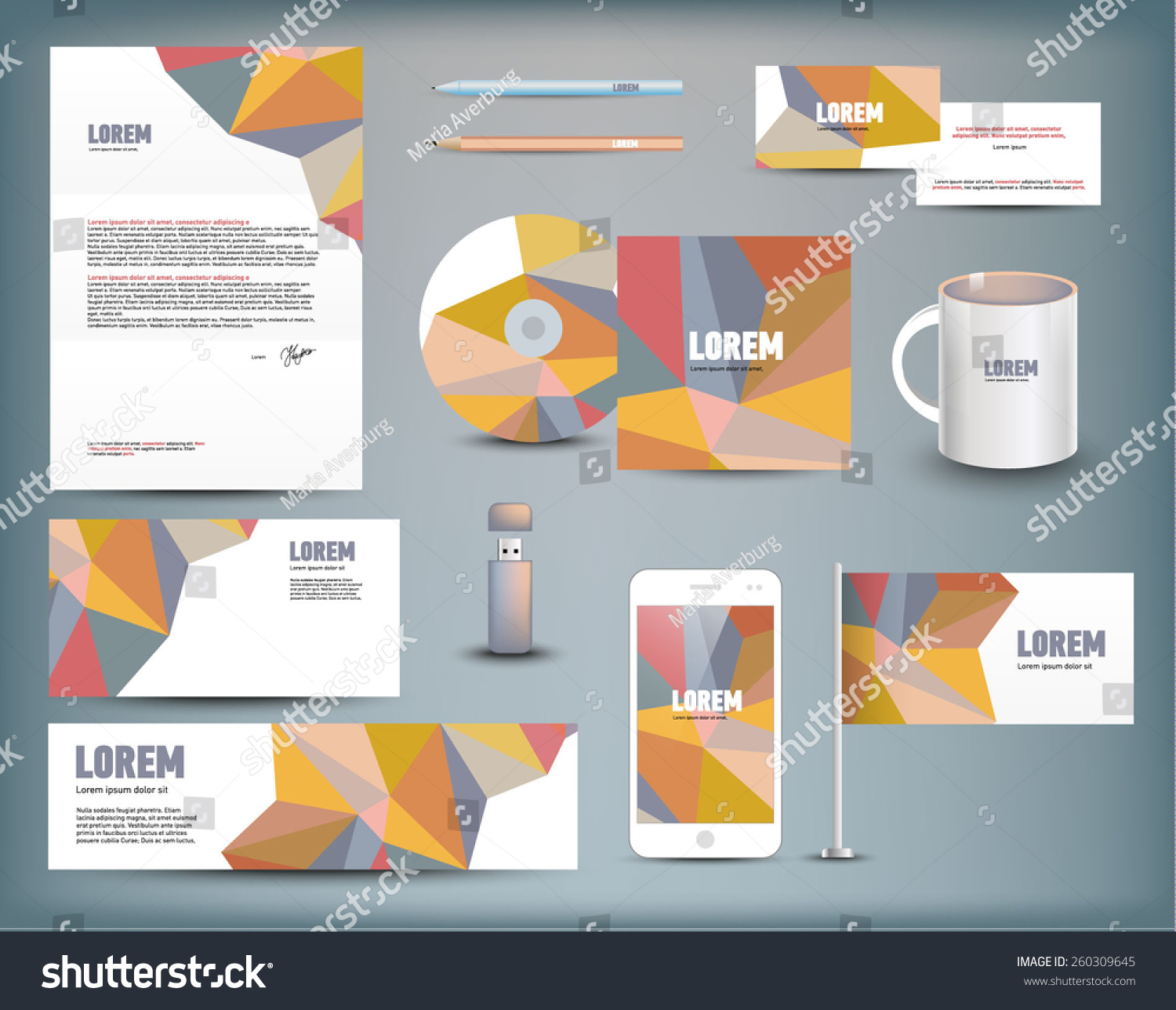 Corporate identity templates blank business cards stock vector corporate identity templates blank business cards stock vector 260309645 shutterstock reheart Gallery