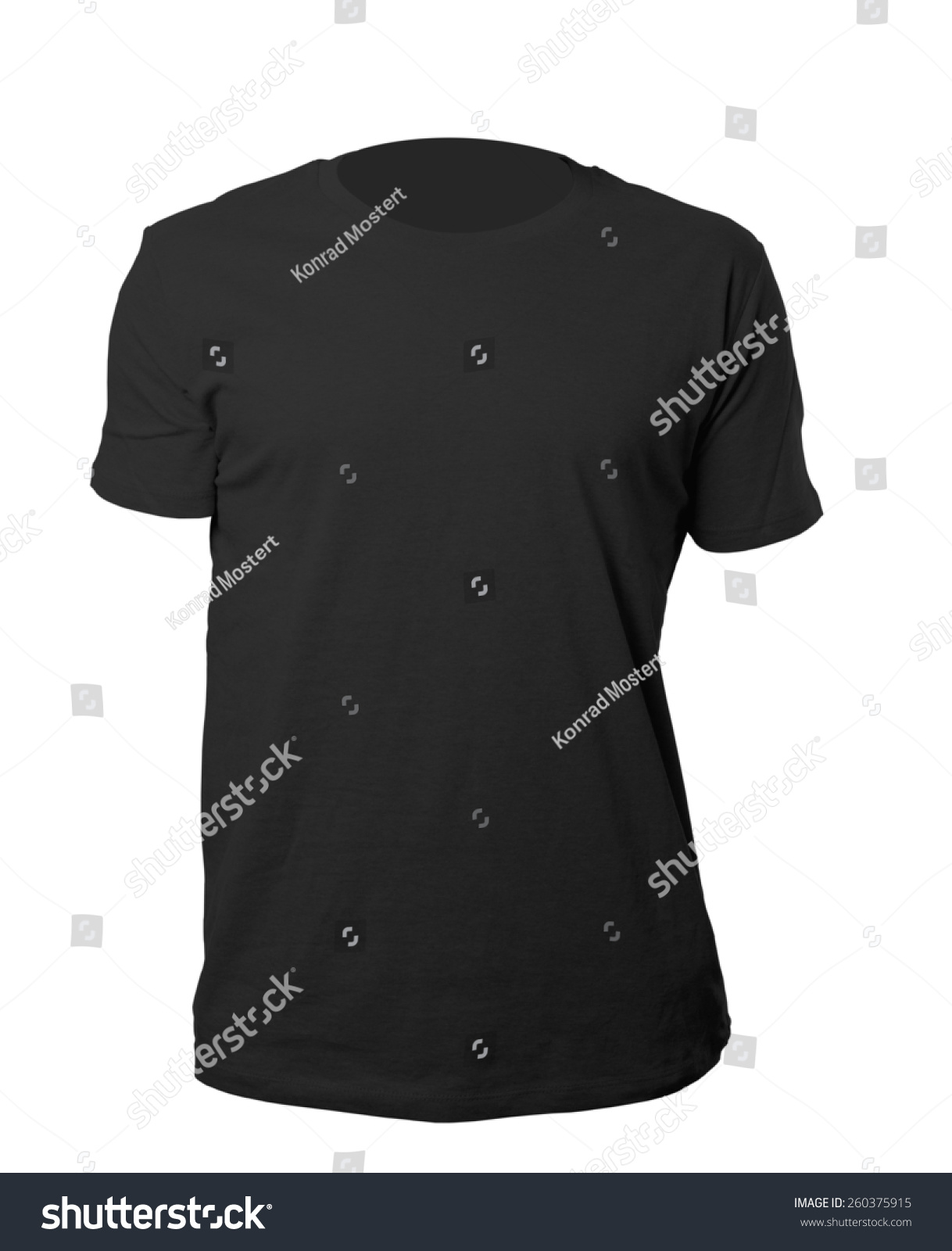 Black t shirt blank template - Black Blank Tshirt Template Isolated On White With Clipping Path
