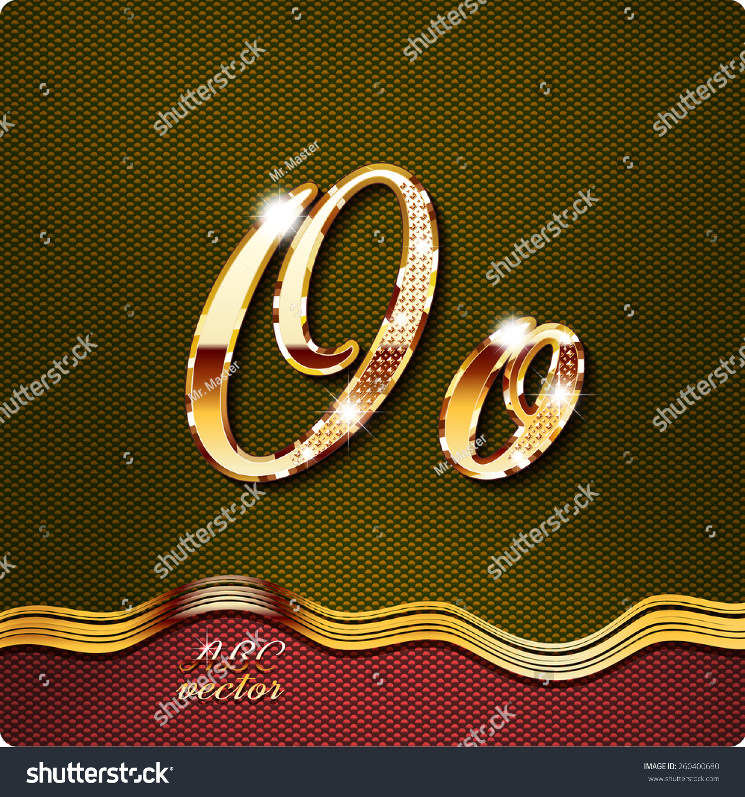 This stylish gold cursive letters there stock vector 260400680 this stylish gold cursive letters there are inlaid with a capital o and buycottarizona Gallery
