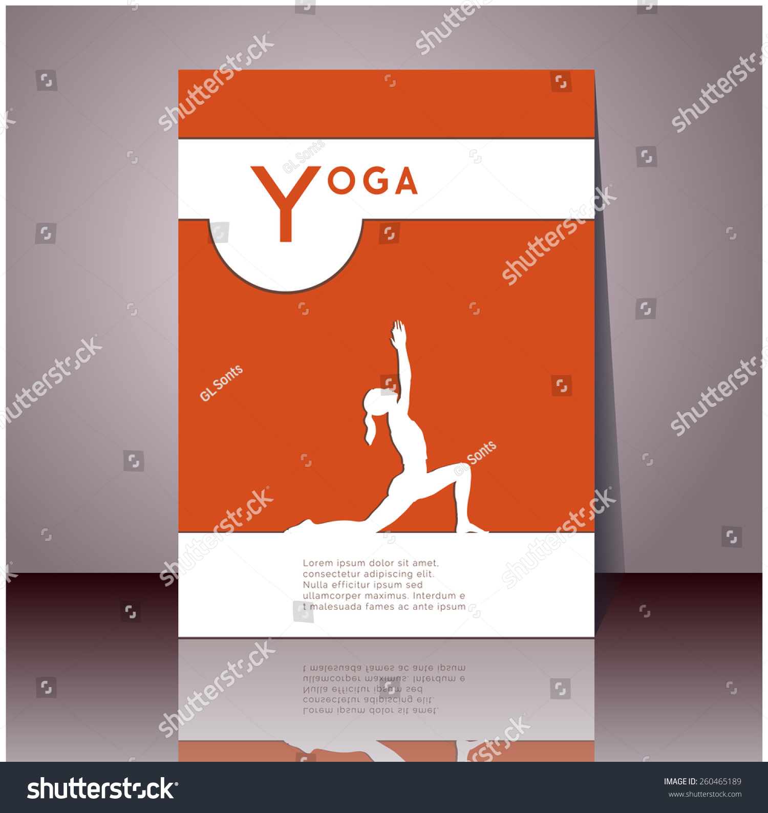 yoga vector poster professional flyer template stock vector professional flyer template or booklet design for yoga studio for publishing