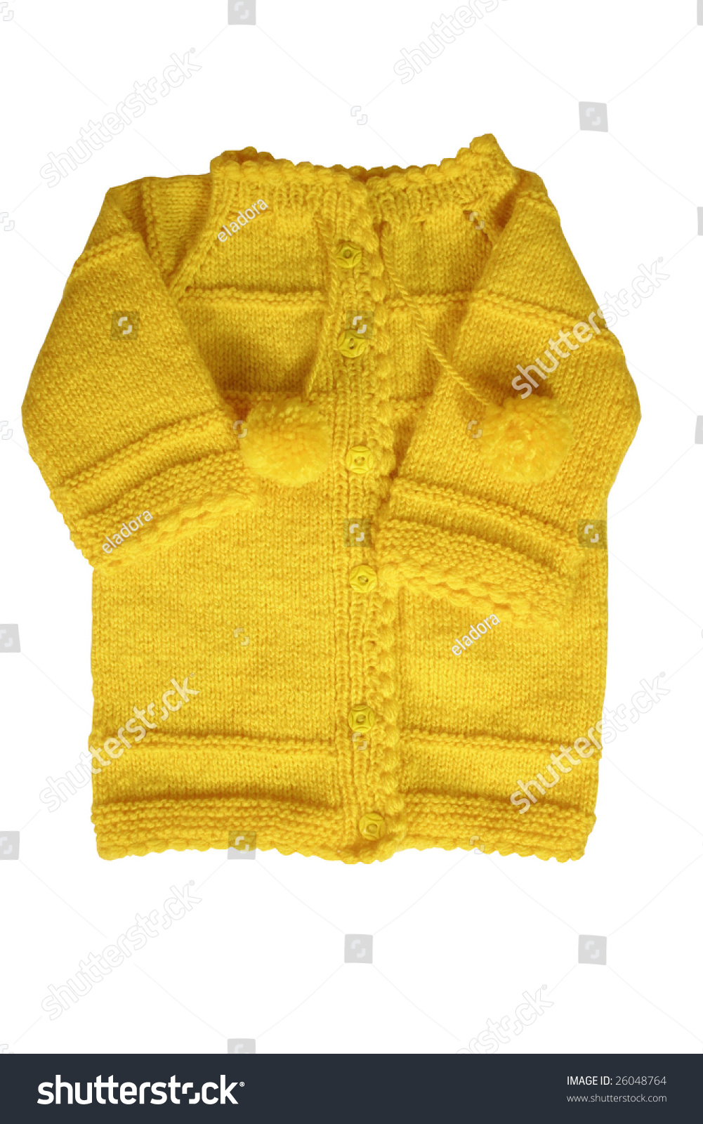 5cd827a22 Yellow Color Handmade Baby Cardigan Stock Photo (Edit Now) 26048764 ...