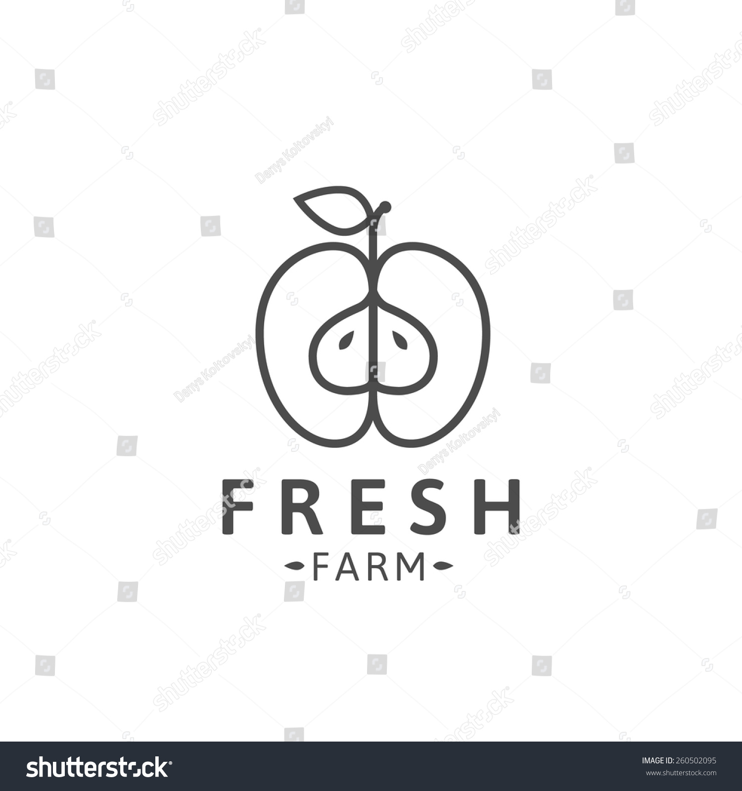 apple logo outline vector. outline apple logo template or icon. vector illustration