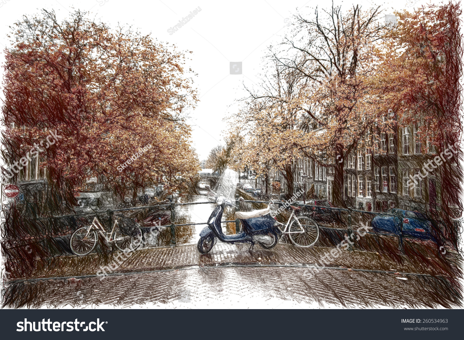 Amsterdam Autumn Beautiful Places In Europe Stock Photo 260534963 Shutterstock