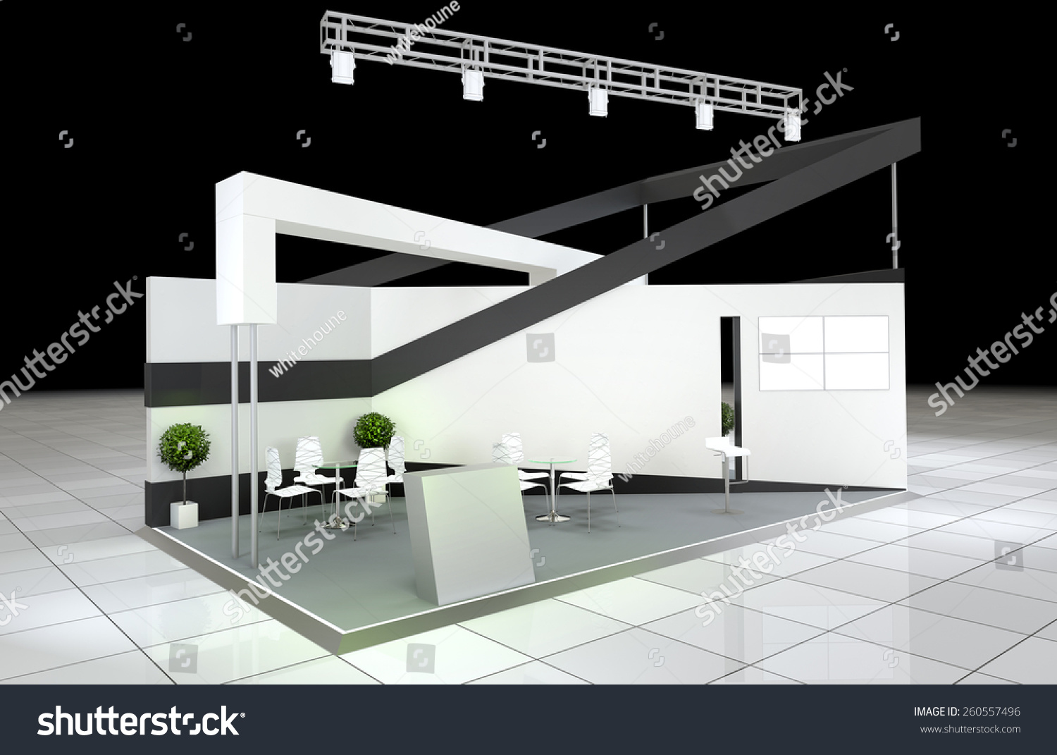 Modern Exhibition Stand : Modern design abstract exhibition stand stock illustration