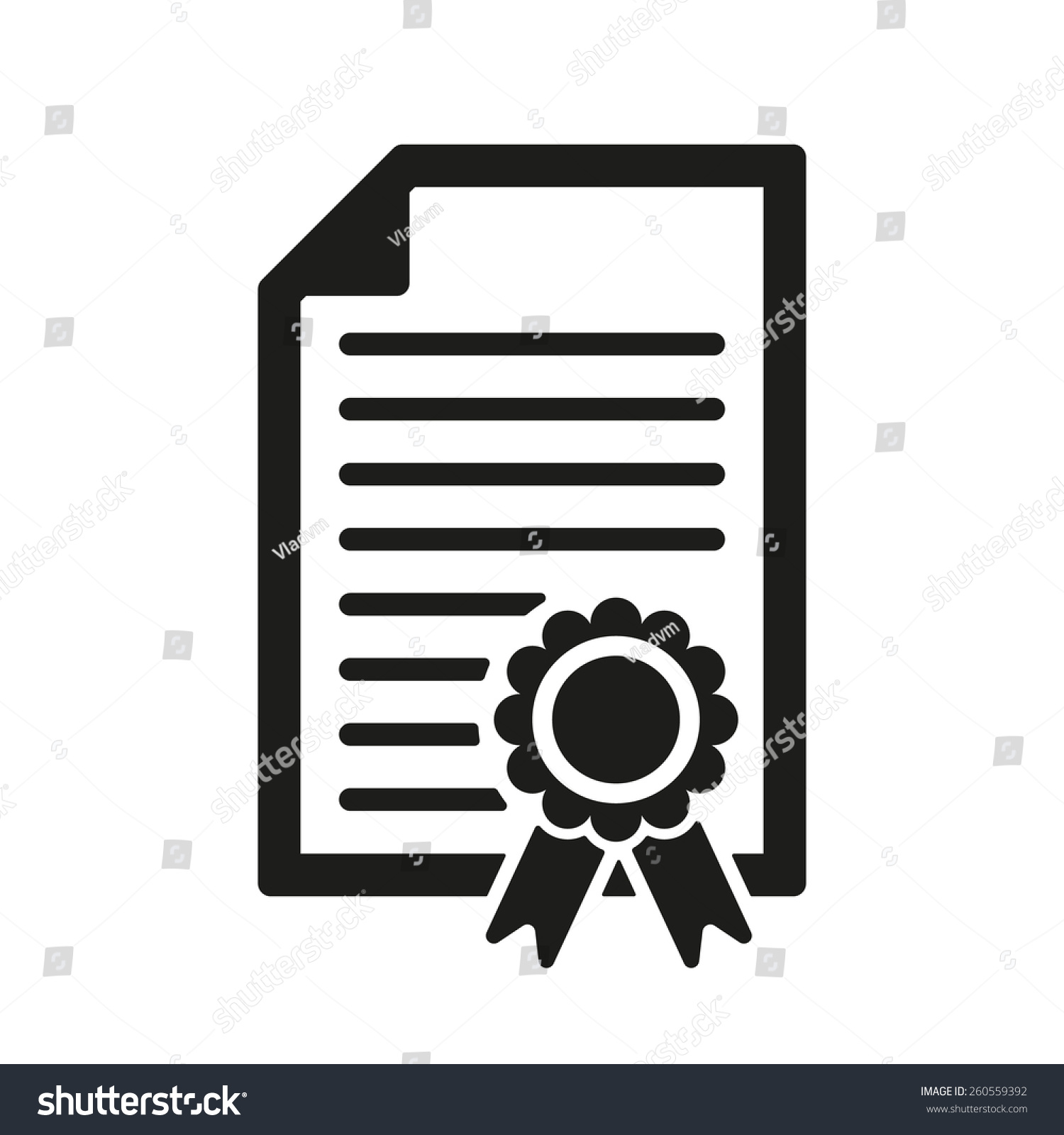 Diploma icon certificate symbol flat vector stock vector 260559392 certificate symbol flat vector illustration buycottarizona