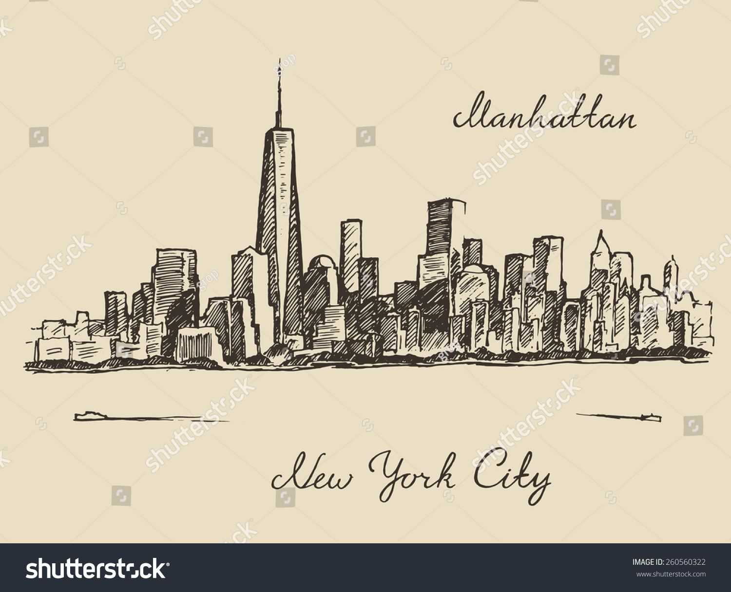 Victor (NY) United States  city photos : vector manhattan new york united states of america engraved vector ...