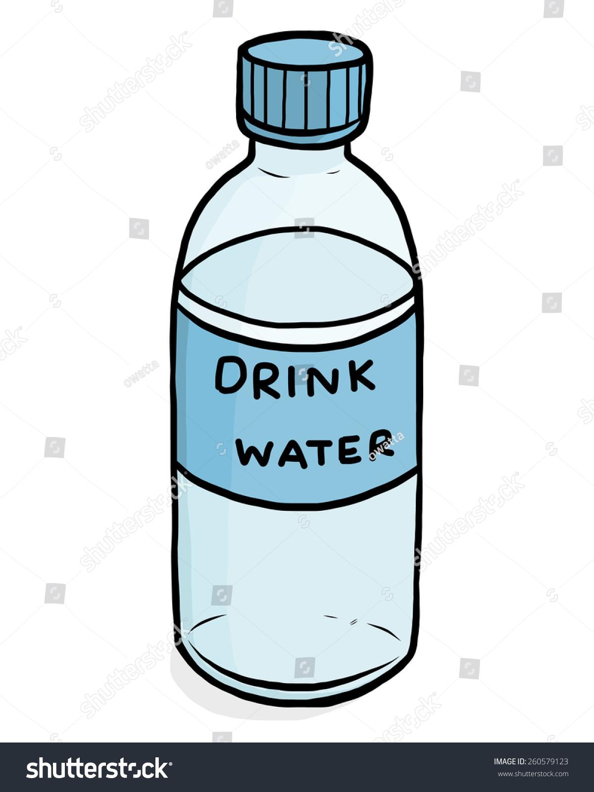 plastic water bottle cartoon vector illustration stock vector