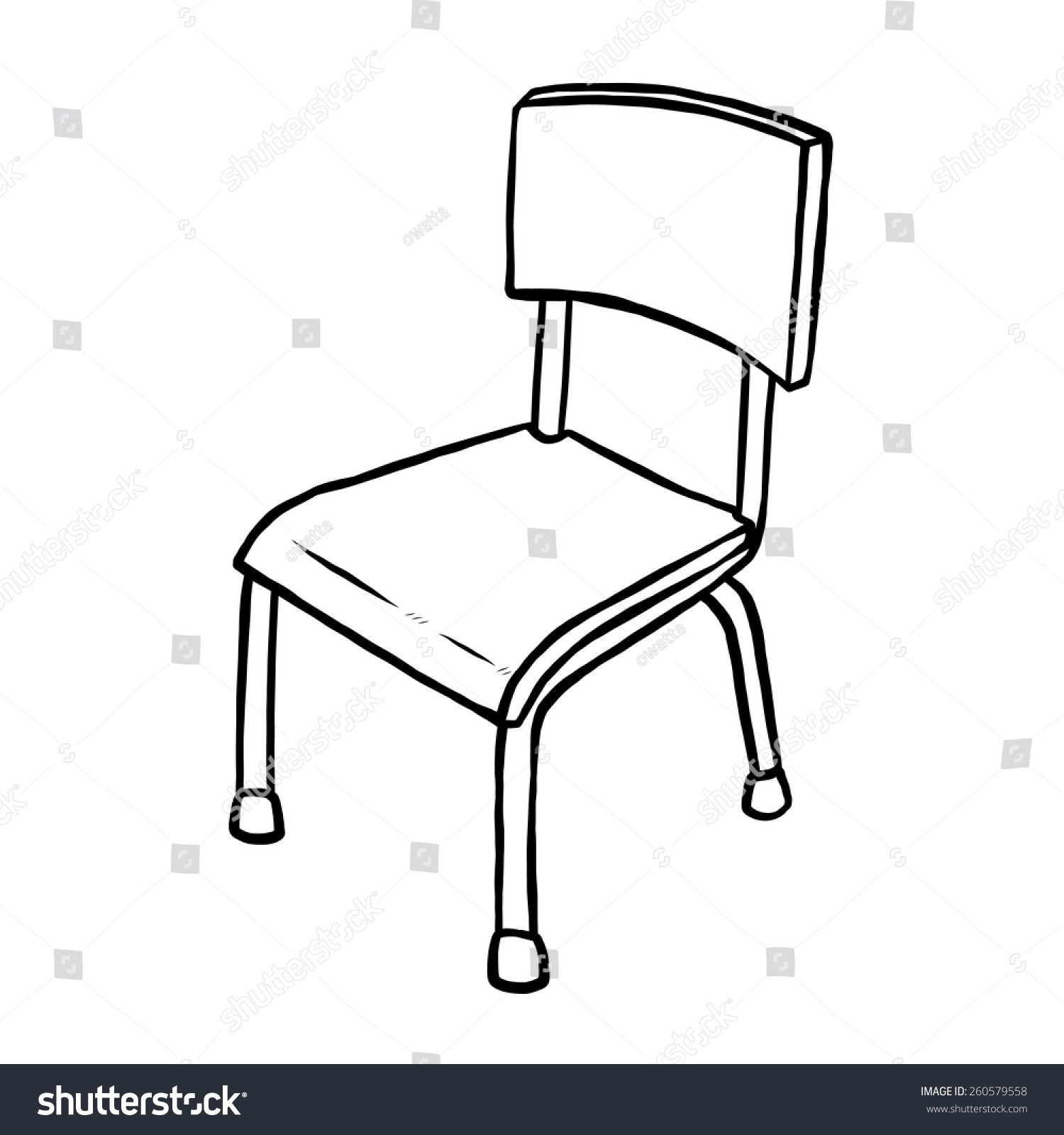 Black and white chair drawing - Stock Vector Classroom Chair Cartoon Vector And Illustration Black And White Hand Drawn Sketch Style Jpg