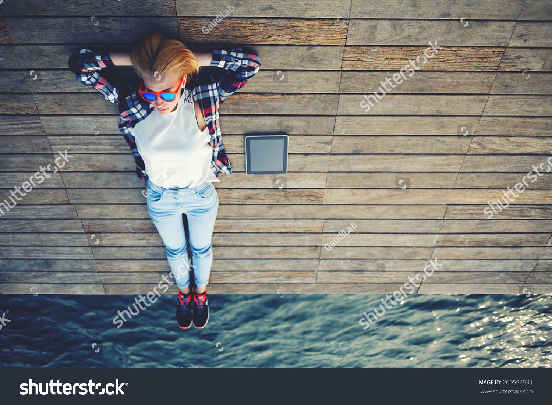 image Girl enjoying the process