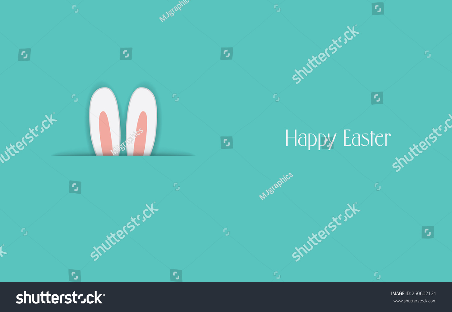 Adorable Happy Easter Postcard Template Bunny Vector – Easter Postcard Template