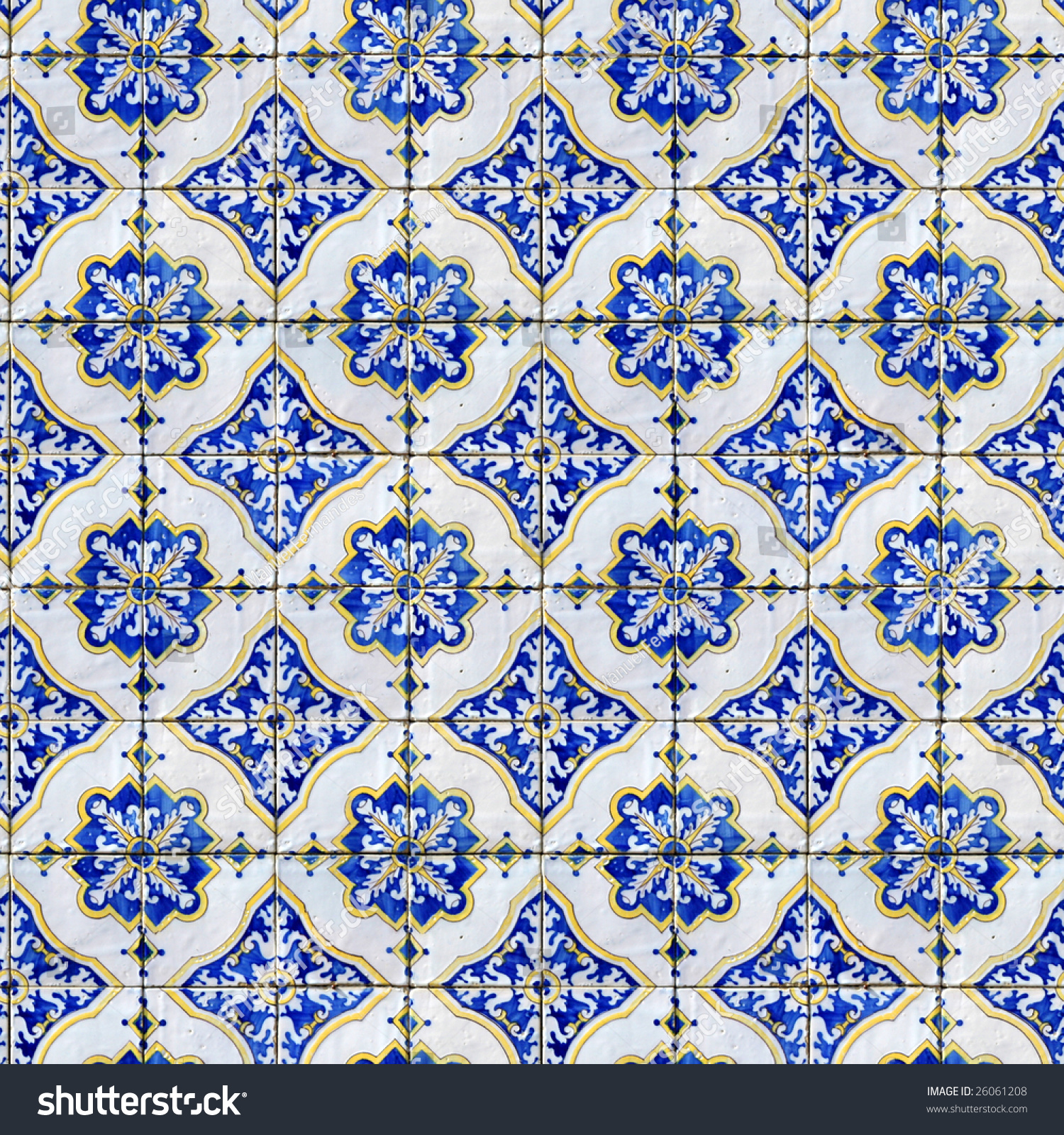 Seamless Tile Pattern Ancient Ceramic Tiles Stock Photo (Download ...