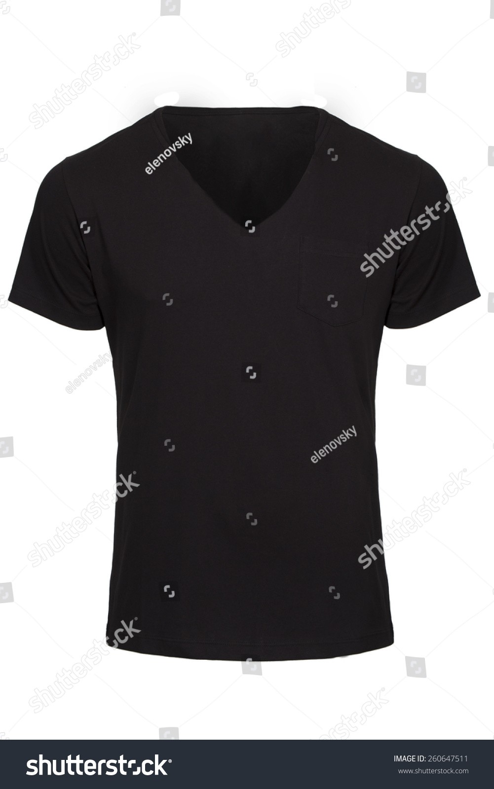 black v neck t shirt template - photo #33