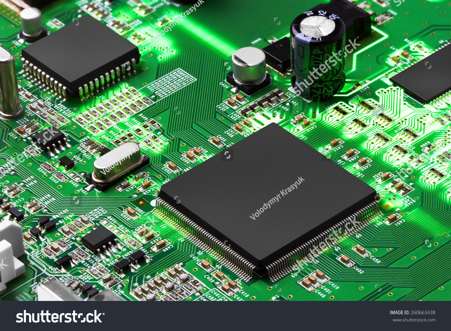 Macro Shot Of Integrated Circuit Many Uses In The Electronics Board Stock Photo Closeup Industry Ez Canvas