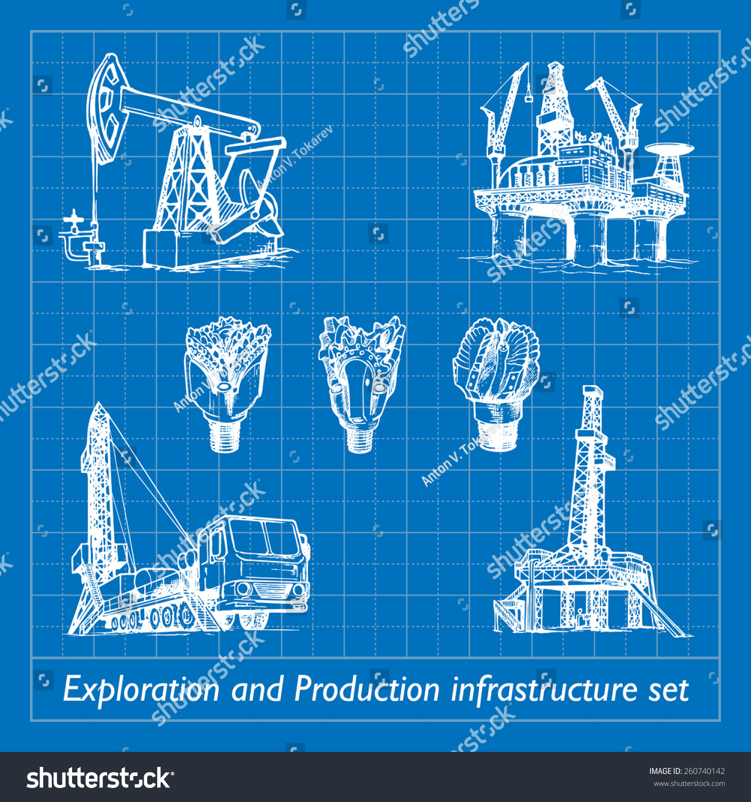 Exploration production infrastructure equipment oil gas vectores en exploration and production infrastructure equipment in oil and gas industry set of 7 eps10 vector malvernweather Image collections